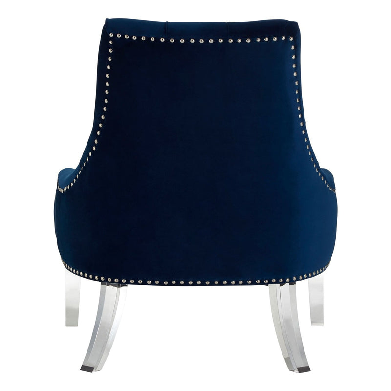 Gigi Blue Button Tufted Chair