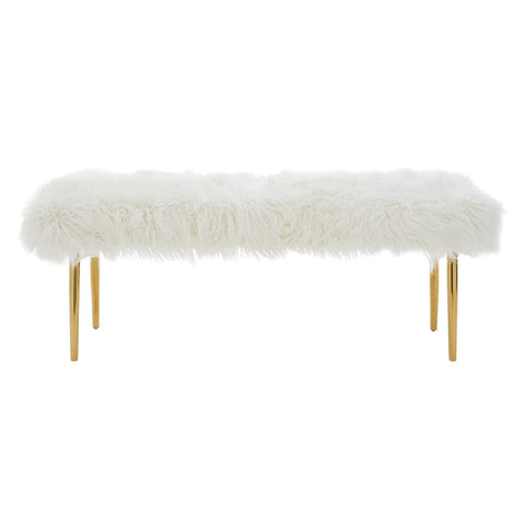 Ruby Natural Fur Effect Bench