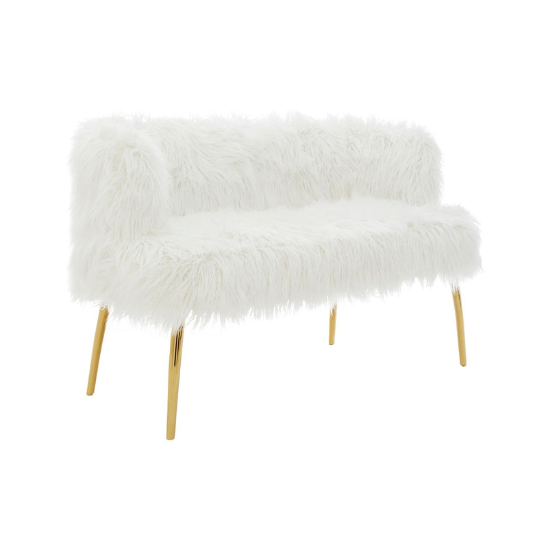 Ruby Natural Fur Effect Sofa