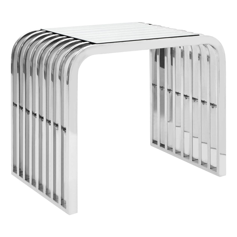 Serena Slatted End Table