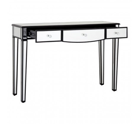 Mirrored Monochrome Console Table