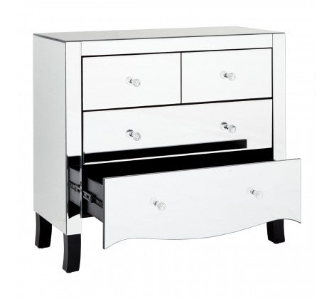 Mirrored 4 Drawer Chest