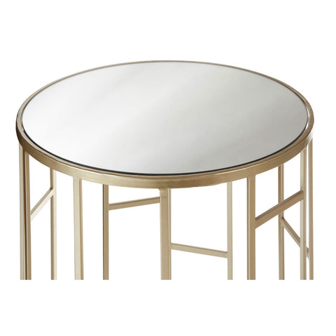 Champagne Mirror Top Tables