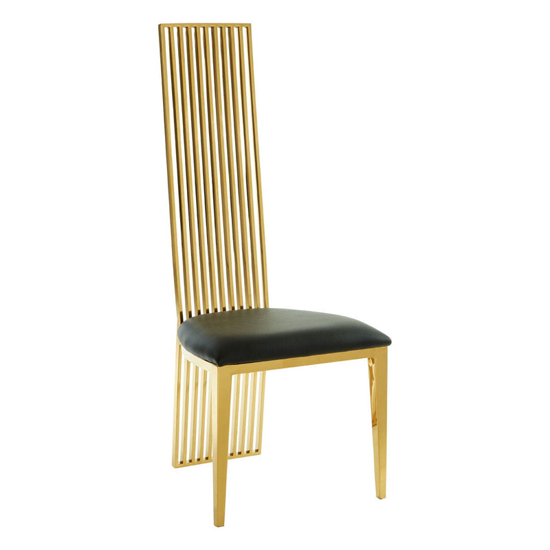 Kyra Gold Finish Dining Chair