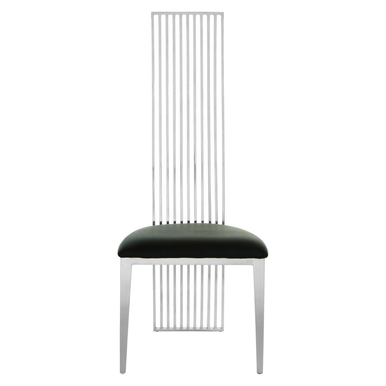 Kyra Silver Finish Dining Chair