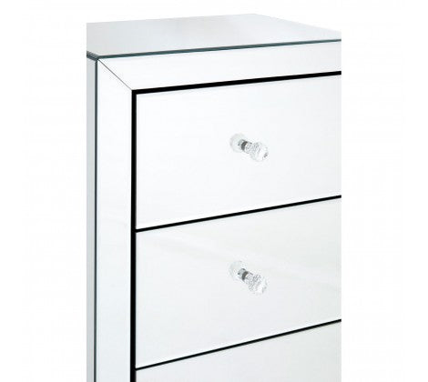 Mirrored Tall 5 Drawer Chest