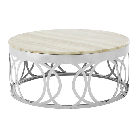 Heidi White Marble Coffee Table