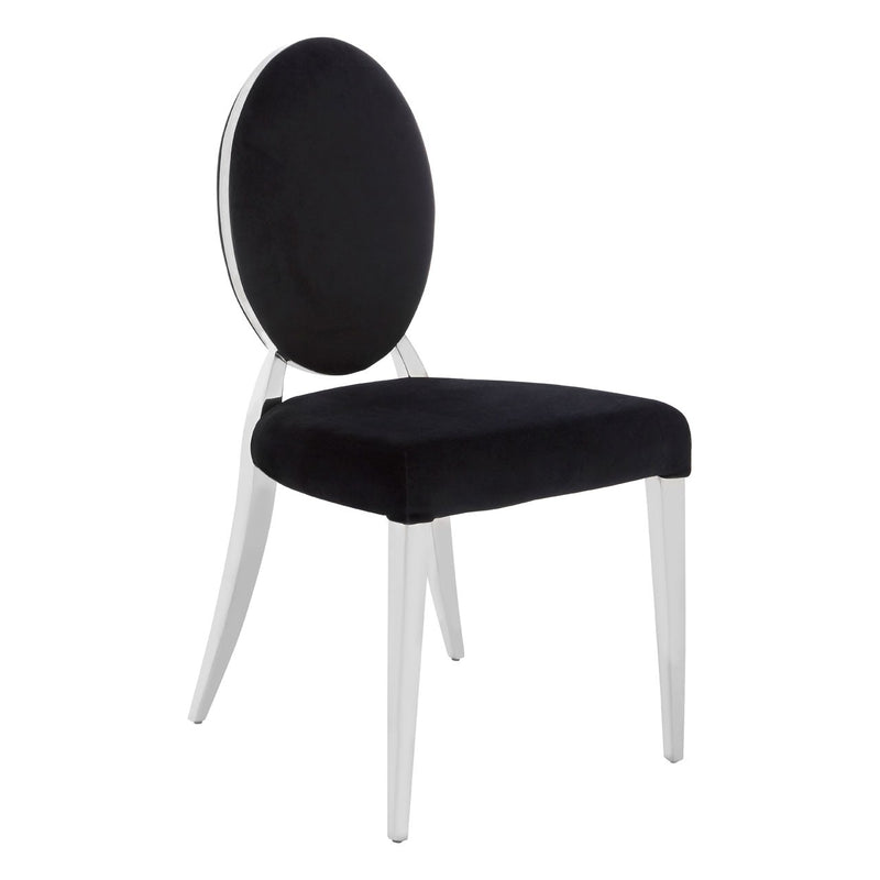 Yasmine Black Velvet Chair