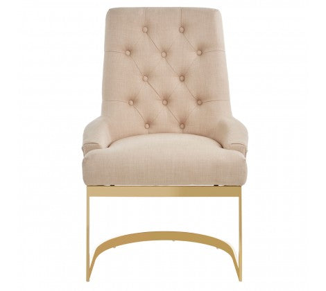 Luxe Gold Base Dining Chair