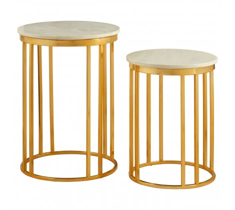 Round Templar Side Tables Set Of 2