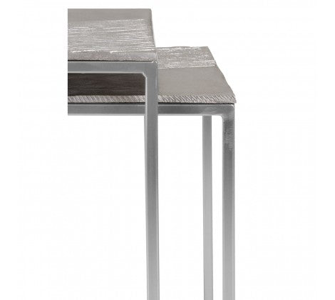 Textured Nickle Nesting Tables