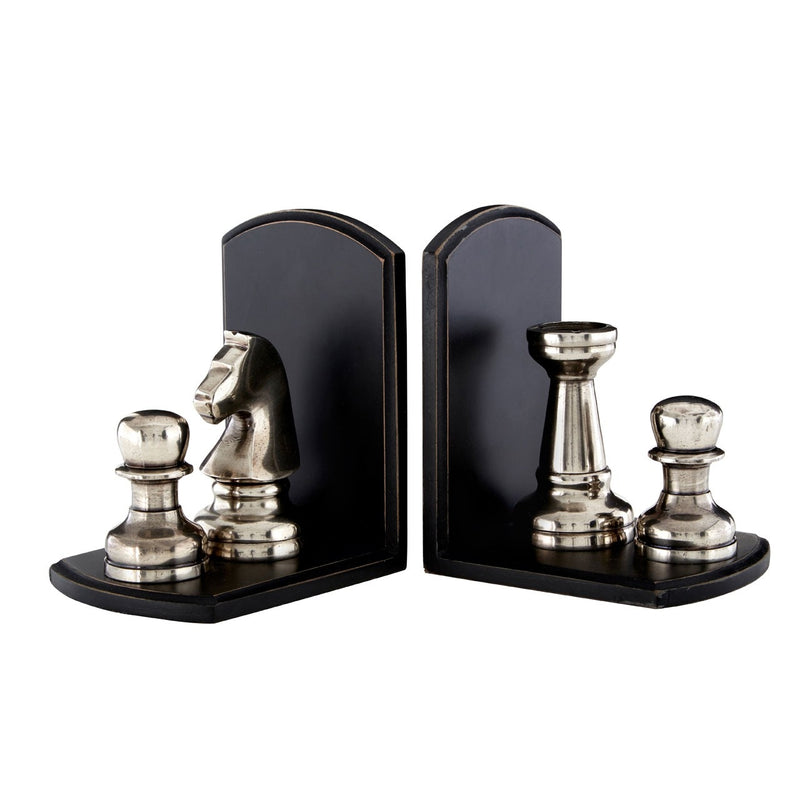 Black Chess Bookends
