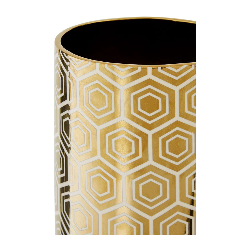 Gold Hexagon Vase