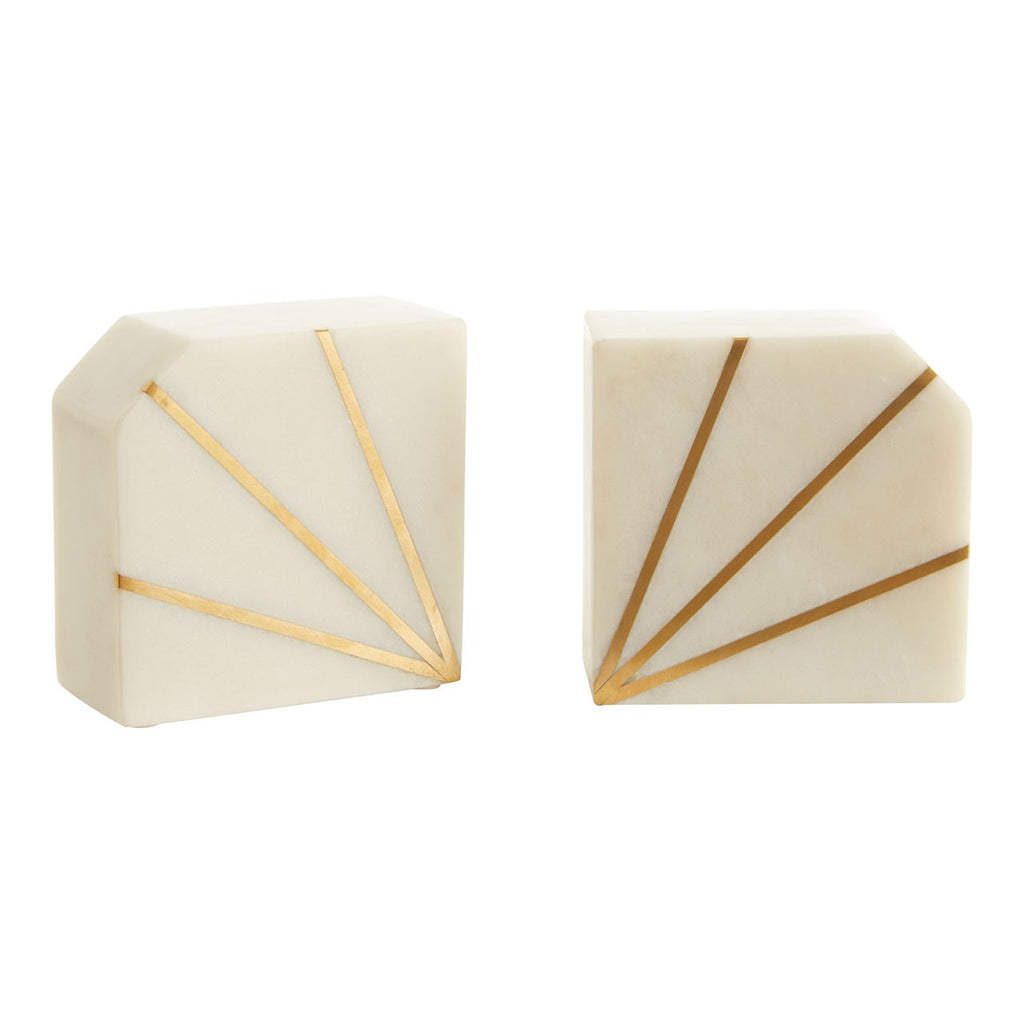 Luxe Marble Bookends