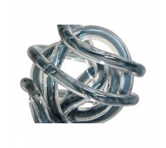 Grey Glass Knots Set Of 3