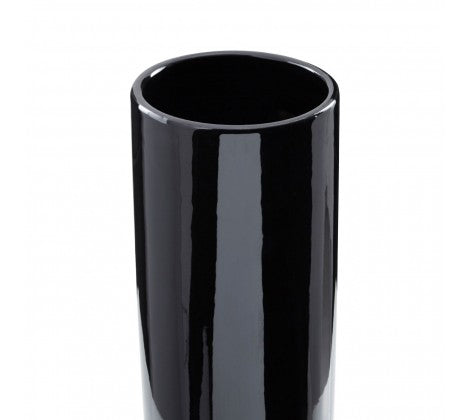 Small Astor Black Pedestal Vase