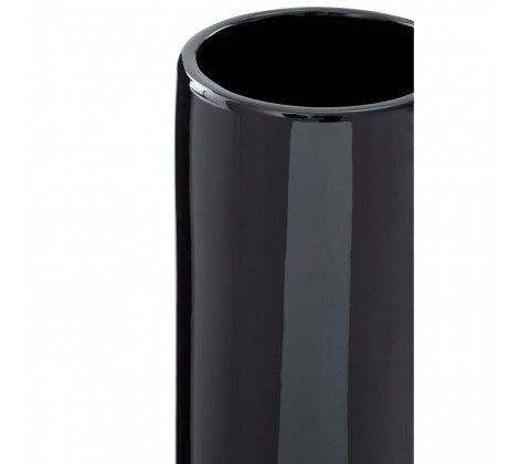 Large Astor Black Pedestal Vase
