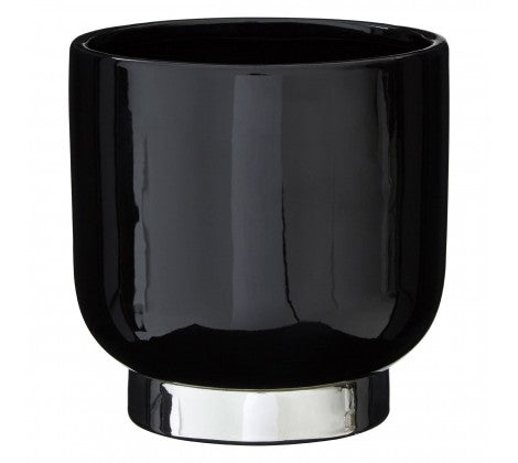 Small Astor Black Planter