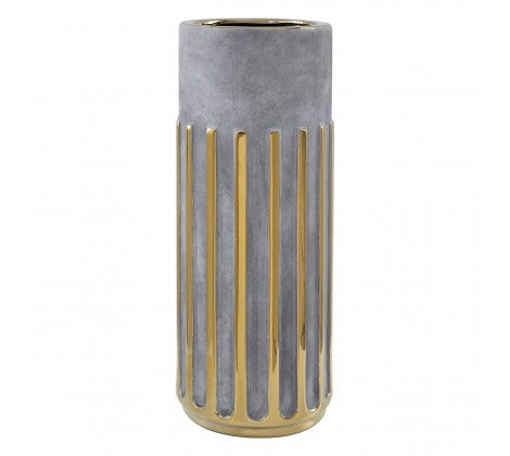 Large Gold Stripe Vase