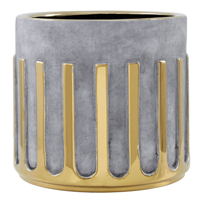 Small Gold Stripe Planter