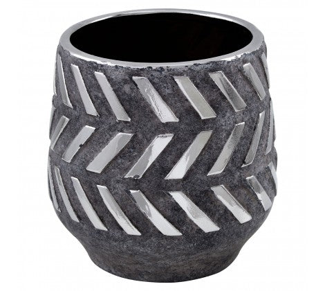 Grey Aztec Planter
