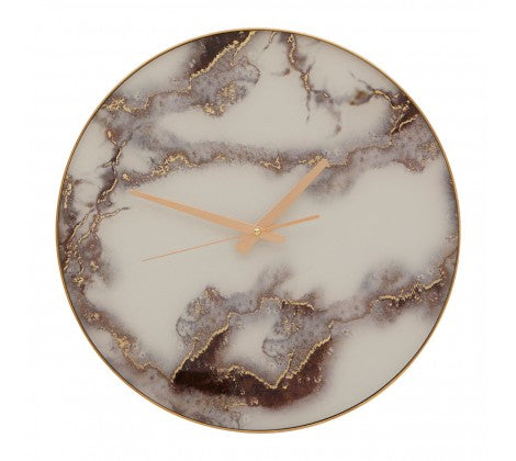 Grey Marble Effect Wall Clock