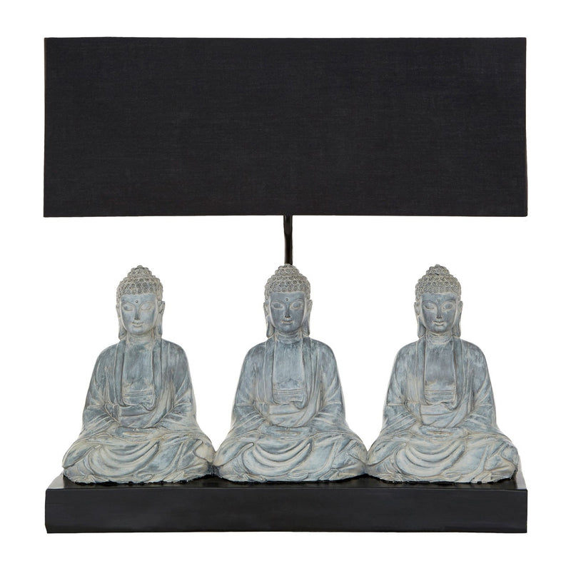 Boho Distressed Buddha Lamp