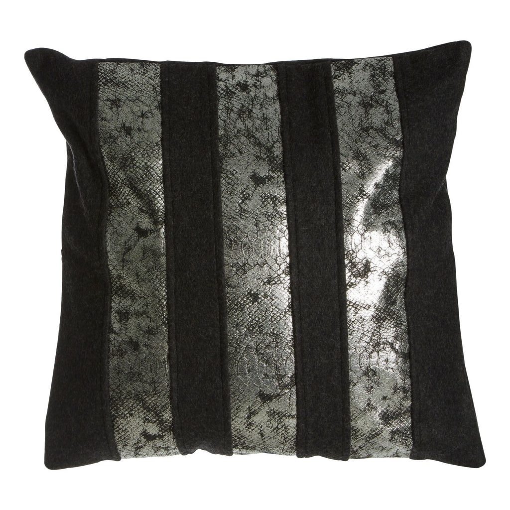 Snakeskin Effect Square Cushion