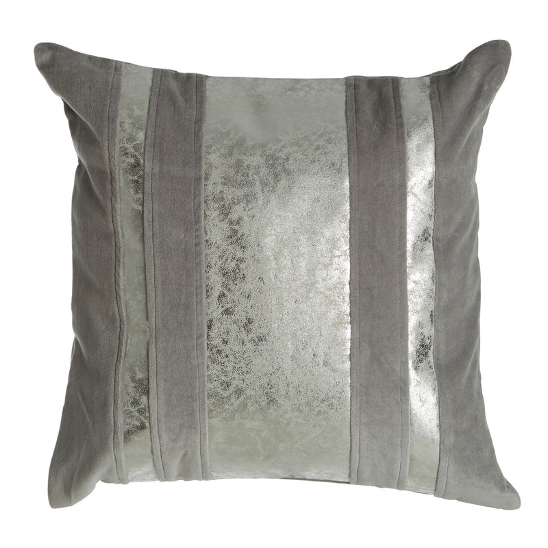 Crushed Silver Square Cushion