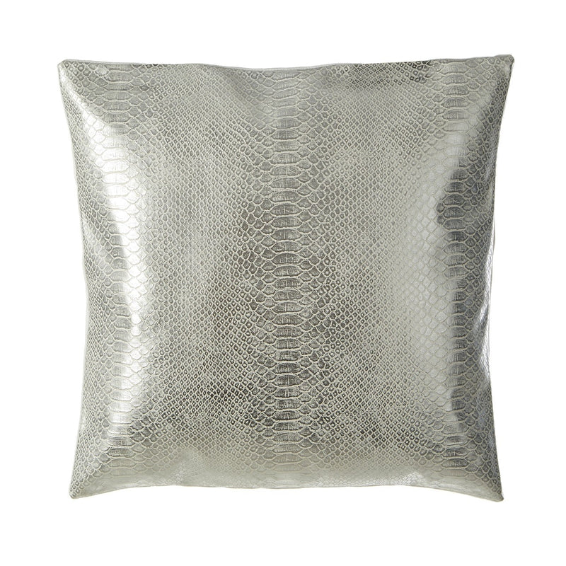 Silver Snakeskin Cushion