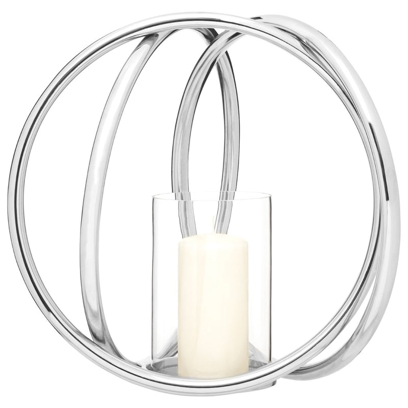Medium Rings Metallic Candle Holder