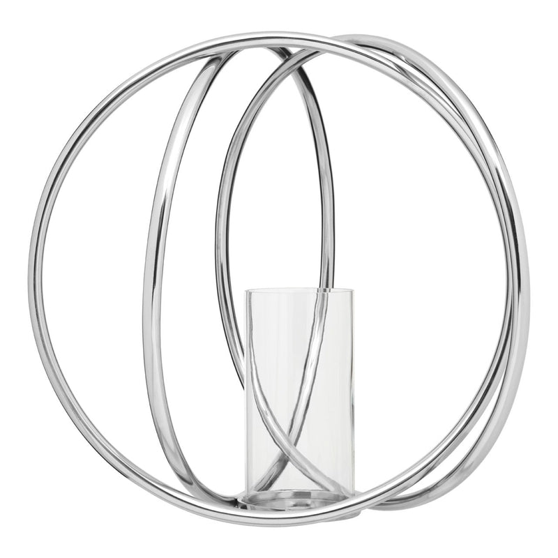 Large Rings Metallic Candle Holder