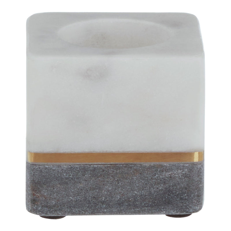 Grey Marble Square Tealight Holder