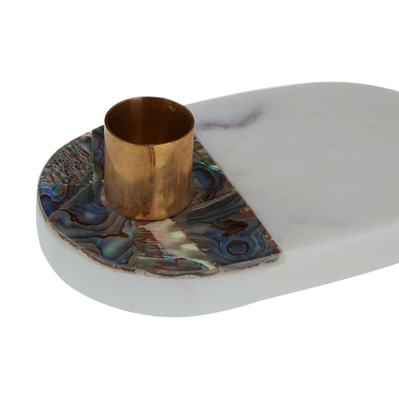 Marble Shell Candle Holder