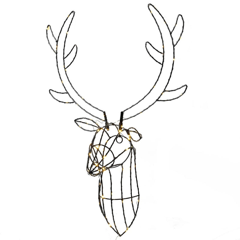 Light Up Stag Wall Light