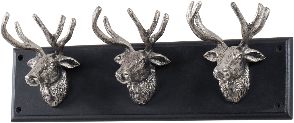 Silver Stag Wall Hook