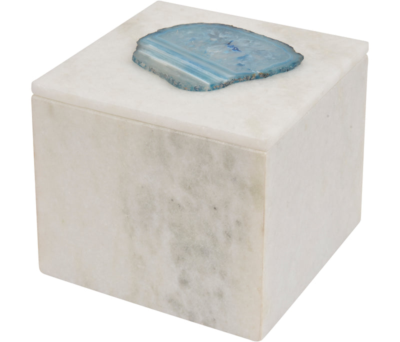 Blue Agate Marble Trinket Box