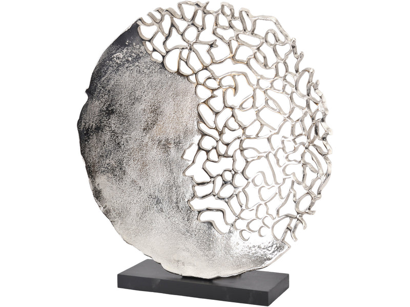 Silver Coral Effect Sculpture