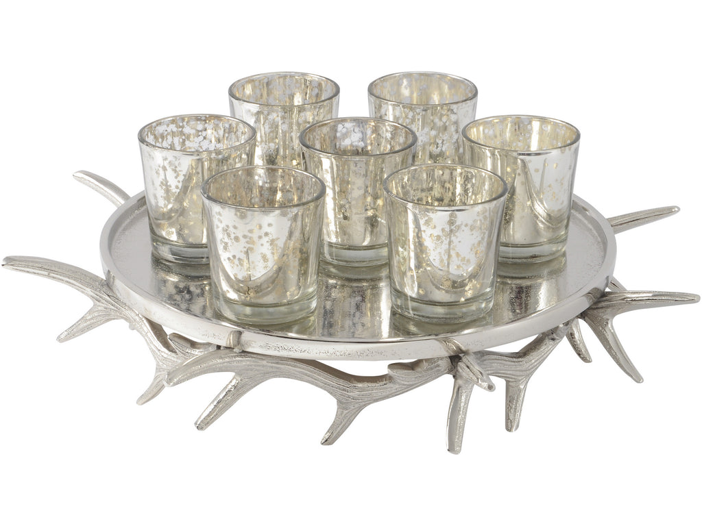 Antler Tealight Holder Tray