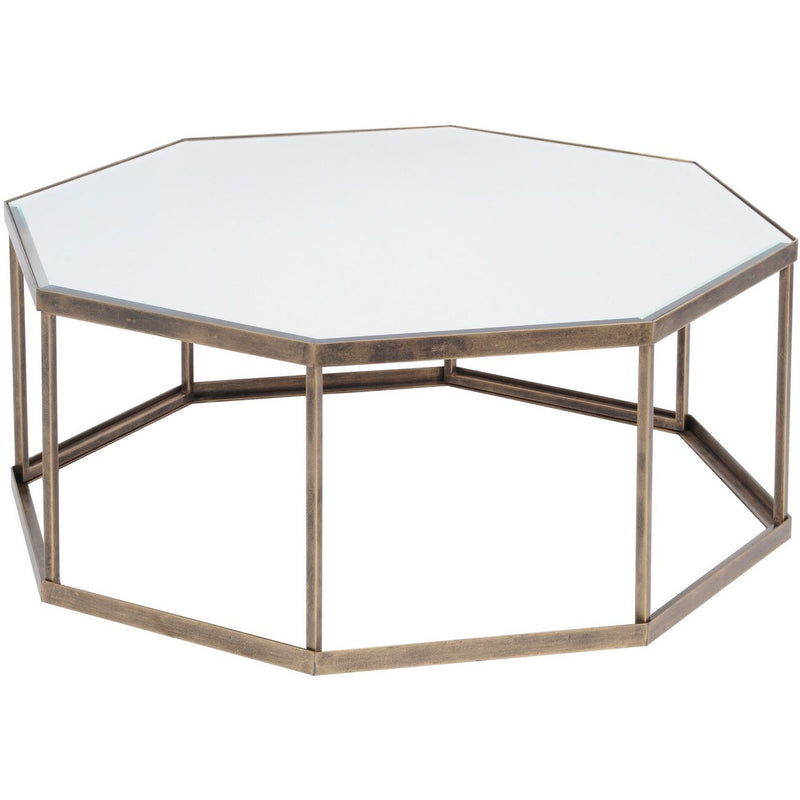 Mirrored Octagonal Coffee Table