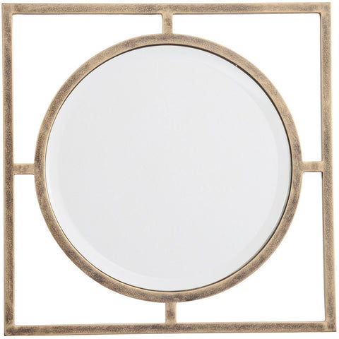 Gold Window Pane Wall Mirror