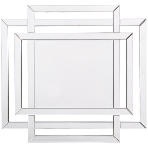 Round Mirror With Square Frame