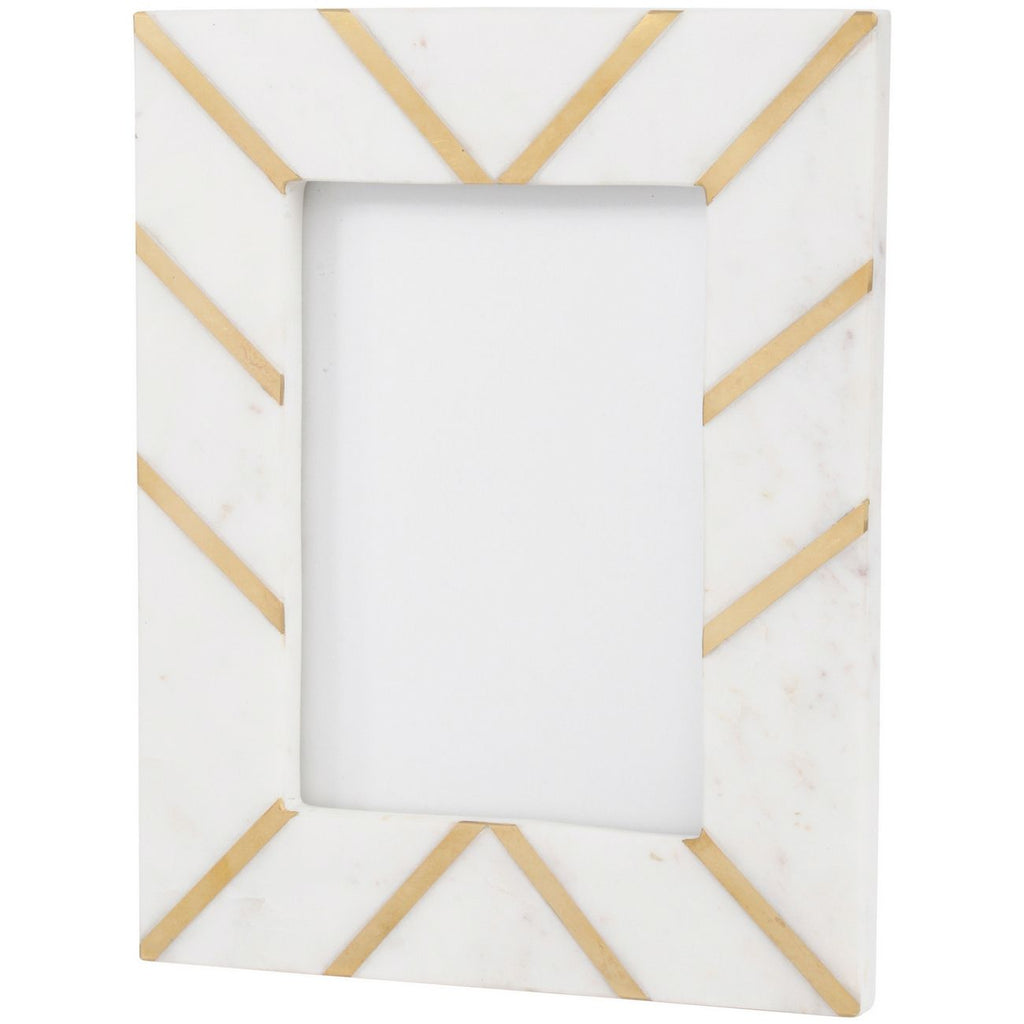 Marble Photo Frame with Gold Inlay