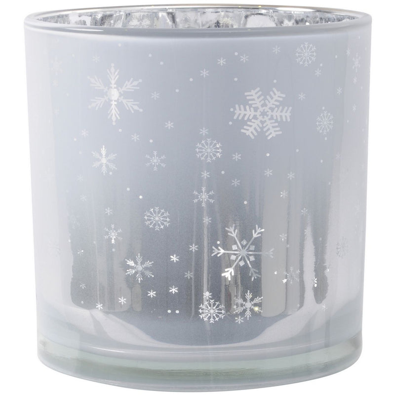 White and Silver Votive Holder