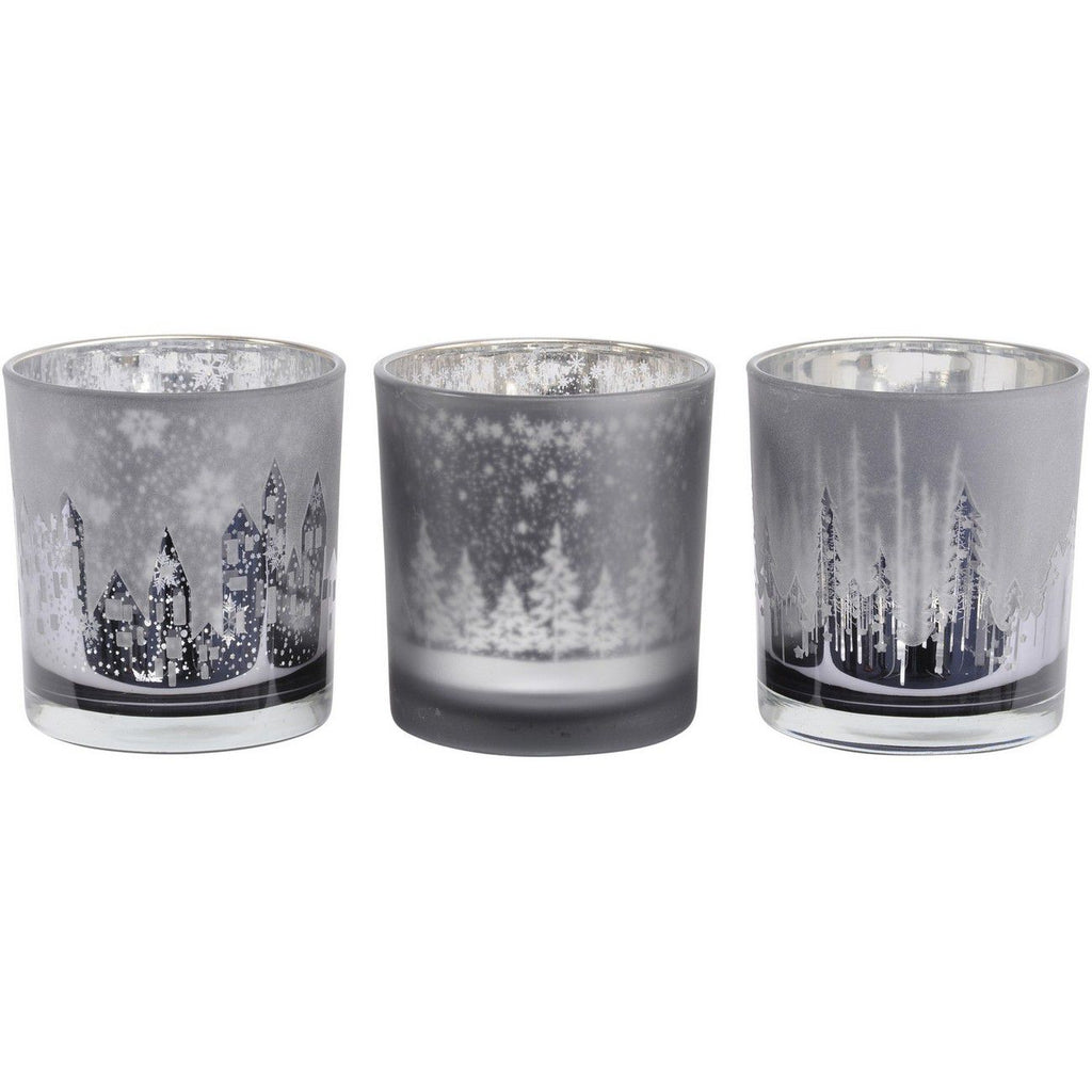 Set of 3 Festive Tealight Holders