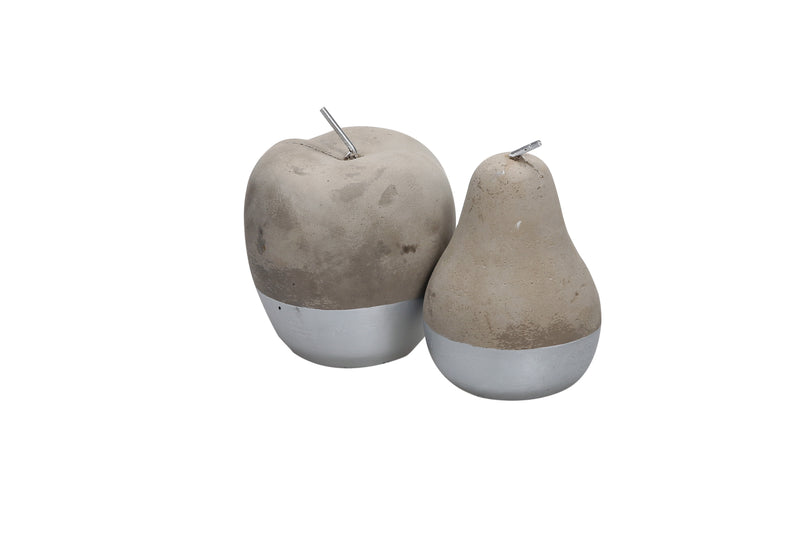 Silver Cement Apple and Pear