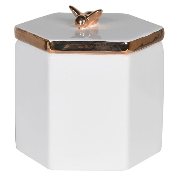 White Box with Bee Lid