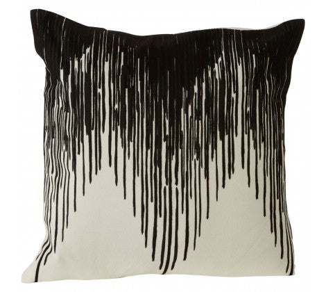 Black and White Gradient Cushion