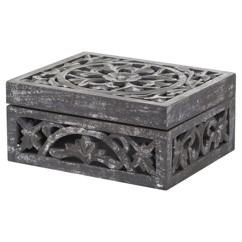 Grey Antique Wooden Box