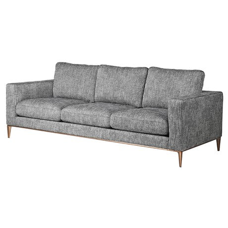 Grey Panelled Sofa